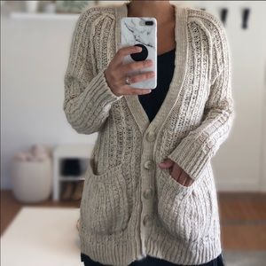 Anthropologie Moth chunky cardigan XS ivory